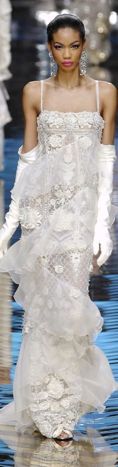 Valentino. Get rid of the superfluous tulle and this would be gorgeous ~ no keep the tulle makes the dress more romantic! ~