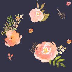 Amelia's Flowers in Deep Purple fabric by shopcabin on Spoonflower - custom fabric