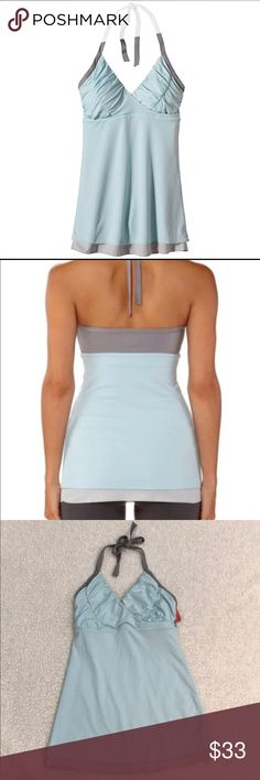 Patagonia yoga halter top NWT Super soft, feminine yet sporty. Patagonia offers a comfortable halter tank top perfect for yoga, dance, or any other activities. Comes with bra cups inside! Patagonia Tops Tank Tops