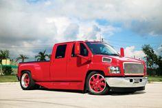 Custom red Chevy C4500 Kodiak