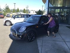 """LORRIE, wishing you many """"Miles of Smiles"""" in your 2018 MINI Hardtop!  All the best, Northwest MINI and Terry Soumis."""