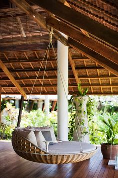 outdoor swing for a restful afternoon