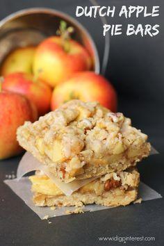 Dutch Apple Pie Bars. Looks YUM!