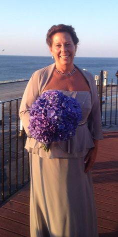 Another Happy Bride !!  and her beautiful work with arranging our hydrangea !! Linda...Married in Hull MA. on September 5th 2014...Congratulations !!