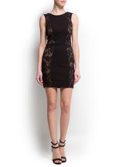 Vestido painéis renda - Vestidos - Mulher - OUTLET