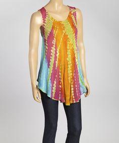 Look at this #zulilyfind! Orange Tie-Dye Swing Top - Women #zulilyfinds