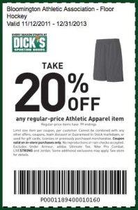 Dicks Sportartikel Promo Rabattcodes