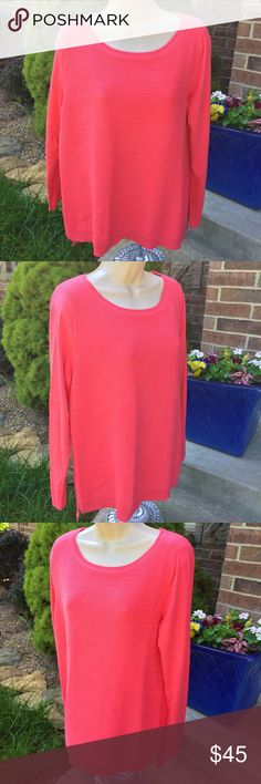 """Talbots Pink Crew Neck Sweater Brand new long sleeve sweater from Talbots. Size M. Gorgeous pink color. 40% rayon, 40% nylon, 20% cotton. Armpit to armpit: about 20"""" Talbots Sweaters Crew & Scoop Necks"""