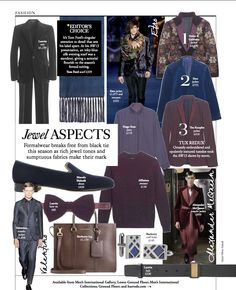 December Issue:Jewel Aspects: Styled by Olivia Halsall Fashion Editor, Harrods, Lanvin, Tom Ford, Resume, December, Jewels, Suits, Formal