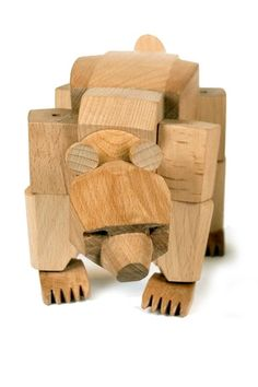 David Weeks Wooden Animals David Weeks wooden animals, Ursa The Bear, Simus The…