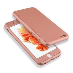 2016 Baru Kedatangan Hybrid 360 Kasus Penutup Untuk fundas Capa Keras Ultra tipis iPhone SE 5 5 s 6 6 S 6 s Ditambah Telepon Kasus + Kaca Tempered