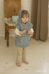 Ravelry: Hooded poncho Phoebe pattern by Muki Crafts