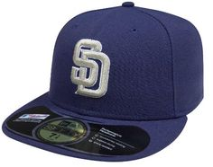 d453b1b7b5c Amazon.com   MLB San Diego Padres Authentic On Field Road 59FIFTY Cap   Sports  Fan Baseball Caps   Sports   Outdoors