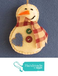 Felt Snowman from Georgetown Cottage Crafts http://www.amazon.com/dp/B017J9XWWC/ref=hnd_sw_r_pi_dp_lZwowb0EG4Q16 #handmadeatamazon