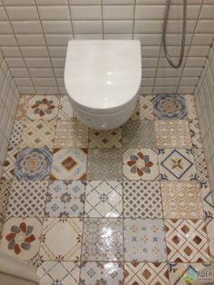 Ремонт в туалете фото, плитка кабанчик, напольная плитка пэчворк