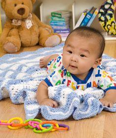 Ripple Waves Baby Blanket - Free Crochet Pattern