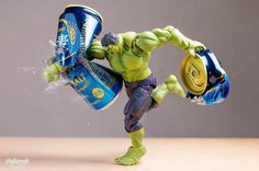 Superheroes Smash Beer