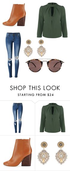 """""""Untitled #27"""" by kylie-cardinali on Polyvore featuring WithChic, Tory Burch, Miguel Ases and Oliver Peoples"""