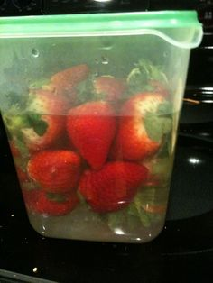 "Chocolate Vodka Soaked Strawberries: ""marinate"" 24 hours..."