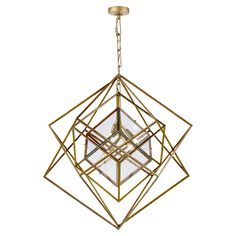 Visual Comfort KW5021G-CG Kelly Wearstler Cubist Medium Chandelier in Gild