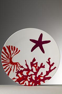 Immagini Etoile Pottery Plates, Ceramic Plates, Ceramic Painting, Fabric Painting, Deco Marine, Color Me Mine, Sea Theme, China Art, Mosaic Designs