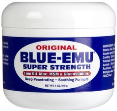 Blue Emu Original Super Strength Pain Relief Rub - works instantly for muscle pain