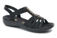 Rieker Dory 60811 (Noir) - Sandales et nu-pieds chez Sarenza (209131)