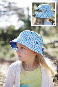 DIY adjustable bucket hat. Perfect for Missy Moo.