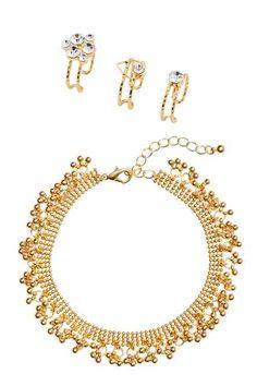 Cadena tobillera y anillos