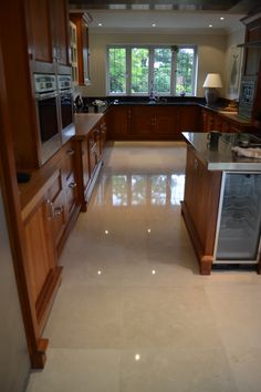 Marble kitchen floor cleaning, diamond polishing and sealing Woking, Surrey  http://www.floorpolishingservices.co.uk/marble-travertine-limestone-terrazzo-floor-cleaning-surrey-sussex/