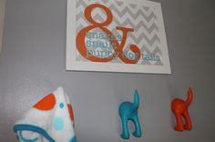 How sweet are these Puppy Dog Tail hooks from @IKEA USA?! We love it paired with the DIY wall art!