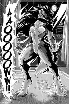 Alpha Luna-Color scene by alfaluna on DeviantArt Anime Neko, Anime Furry, Anime Art, Real Werewolf, Werewolf Girl, Furry Wolf, Furry Art, Wallpaper Lobos, Female Werewolves