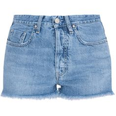 MiH JEANS Halsy Cut Off Shorts (605 BRL) ❤ liked on Polyvore featuring shorts, bottoms, short, pants, short cut off jean shorts, short shorts, denim short shorts, short jean shorts and jean shorts