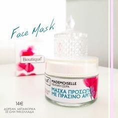 𝑭𝒂𝒄𝒆 𝑴𝒂𝒔𝒌💙💜 14€ ...με πράσινο άργιλο, πλούσια σε μαγνήσιο, κάλιο, ασβέστιο και έχει ως κύριο σκοπό τον 𝛫𝛢𝛩𝛢𝛲𝛪𝛴𝛭𝛰 του δέρματος, την αποβολή τοξινών, την 𝛵𝛰𝛮𝛺𝛴𝛨 και την 𝛴𝛶𝛴𝛷𝛪𝛯𝛨 της επιδερμίδας! 𝝙𝝮𝝦𝝚𝝖𝝢 𝝡𝝚𝝩𝝖𝝫𝝤𝝦𝝞𝝟𝝖 𝝨𝝚 𝝤𝝠𝝜 𝝩𝝜𝝢 𝝚𝝠𝝠𝝖𝝙𝝖 #boutiqueshopgr #boutiqueshop #eshop #shoponline #mask #facemask #greenclay #πράσινοςάργιλος #μάσκαπροσώπου #beauty #lovemyskin #healthyskin Face, Faces, Facial