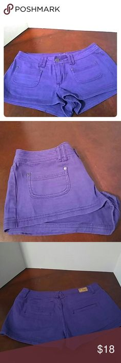 Dark purple shorts by Reign Dark purple short shorts made by Reign. Size 9. 2 pockets on the front and back. Reign Shorts