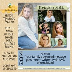 half page yearbook ad template word - Google Search | Senior Page ...