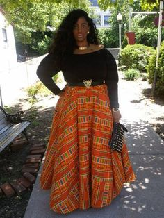 Style 4 Curves --For the Curvy Confident Woman: Curves Can Rock It Better: Ankara Printed Skirt