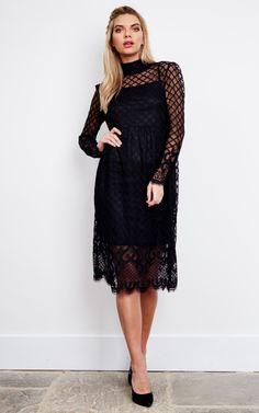 This stunning midi LBD is a great number for day or night. Pair with some rocker boots and a leather jacket for a daytime feel, or some killer heels and lippy for a perfect dinner date ensemble.