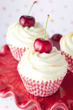 Cherry cupcakes, of course!!
