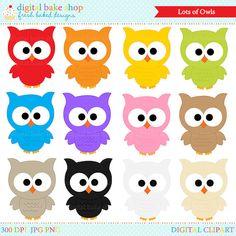 OFF SALE owls clipart digital clip art birds - Lots Of Owls Digital Clip Art Owl Preschool, Kindergarten Activities, September Crafts, Owl Theme Classroom, Owl Clip Art, Birthday Charts, Card Games For Kids, New Year's Crafts, Owl Print