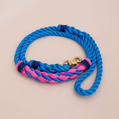 Cruiser Rope dog handmade leash - pet supplies - dog leash - Soft cotton rope leash -Hand made cotton rope leash - The rope ends are spliced then whipped with Lasso's original knots for durability.