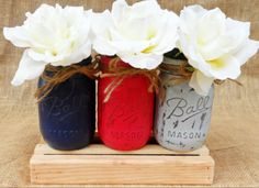 Check out this item in my Etsy shop https://www.etsy.com/listing/200848713/navy-color-jar-vase-centerpiece