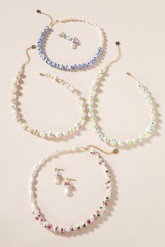 Cloverpost Splash Necklace by in Pink Size: All, Jewelry at Anthropologie Fashion Jewelry Necklaces, Cute Jewelry, Fashion Necklace, Diy Jewelry, Beaded Jewelry, Jewelery, Jewelry Accessories, Handmade Jewelry, Jewelry Design