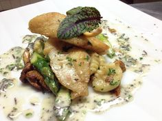 John Dory, gnocchi, asparagus, truffle beurre blanc in #THEBlvd. Photo compliments of @Anthony Frunzi