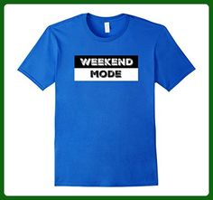 Mens Weekend Mode Tshirt, Family Tee Large Royal Blue - Relatives and family shirts (*Amazon Partner-Link)