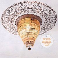 Cutting Edge Stencils is so excited to share that our Georgian Ceiling Medallion Stencil is featured in the October 2012 issue of This Old House magazine! A ceiling stencil is a great way to do some room decorating on a budget, and the final result is just beautiful. The article is also full of
