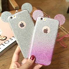 Fashion Bling Glitter Cute Mickey Mouse Ears Case For iPhone 7 7 Plus 6 Plus 5 Soft Transparent TPU Cover Phone Bags Coque Coque Ipad, Coque Iphone, Iphone 6, Iphone Phone Cases, Phone Covers, Cute Cases, Cute Phone Cases, Iphone 7 Plus Cases, Smartphone Case