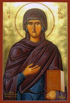 Euphemia - September 16 - by Michael Hadjimichael Saint Catherine Of Alexandria, Orthodox Icons, Iron Man, Mona Lisa, Saints, Superhero, Female, Artwork, September 16