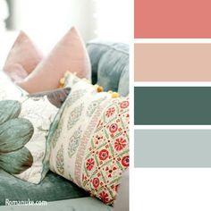 Like these colors with whites. Mixing Paint Colors, Paint Color Schemes, Colour Pallette, Interior Design Color Schemes, Interior Paint Colors, Colours That Go Together, Color Palette Challenge, Color Plan, Coastal Colors
