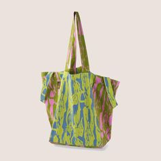 Brushwood Bark market bag with 4 handles